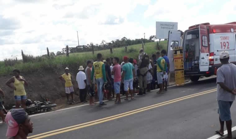 , Amargosa: motociclista fica ferido em acidente no Bairro Catiara